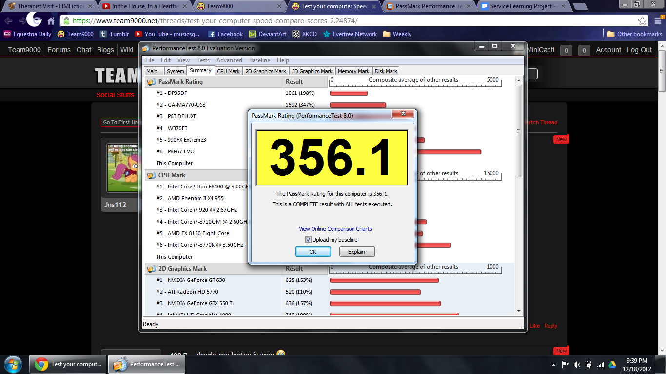 Test your computer Speed  Compare Scores 2! | Team9000 Forums